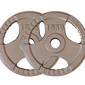 Olympic Cast Iron Weight Plates Pair (15KG x 2)-0