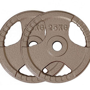 Olympic Cast Iron Weight Plates Pair (25KG x 2)-0
