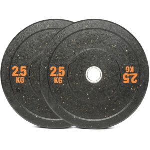 Olympic Hi Temp Bumper Weight Plates Pair (2.5KG x 2)-0