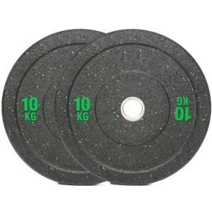 Olympic Hi Temp Bumper Weight Plates Pair (10KG x 2)-0