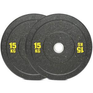 Olympic Hi Temp Bumper Weight Plates Pair (15KG x 2)-0
