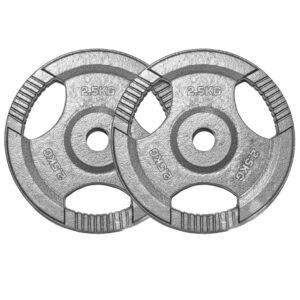 Standard Cast Iron Weight Plates Pair (5KG x 2)-0