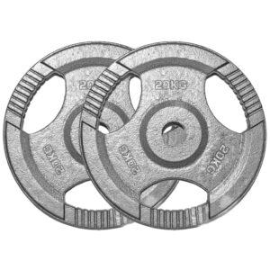Standard Cast Iron Weight Plates Pair (20KG x 2)-0