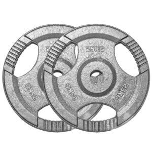 Standard Cast Iron Weight Plates Pair (25KG x 2)-0