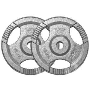 Standard Cast Iron Weight Plates Pair (7.5KG x 2)-0