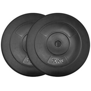 Standard Vinyl Weight Plates Pair (10KG x 2)-0