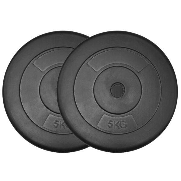 Standard Vinyl Weight Plates Pair (5KG x 2)-0